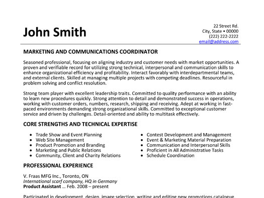 Cover letter communications coordinator example