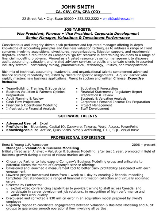 saas resume samples - vp finance resume vp finance cfo early stage saas in new