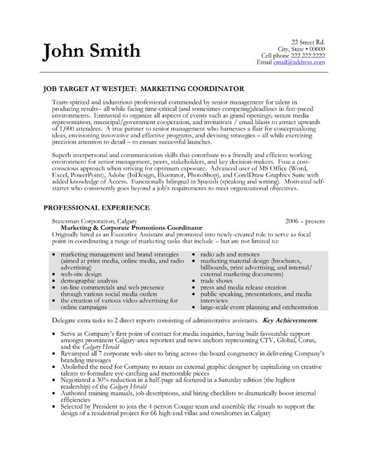 marketing coordinator resume template premium resume
