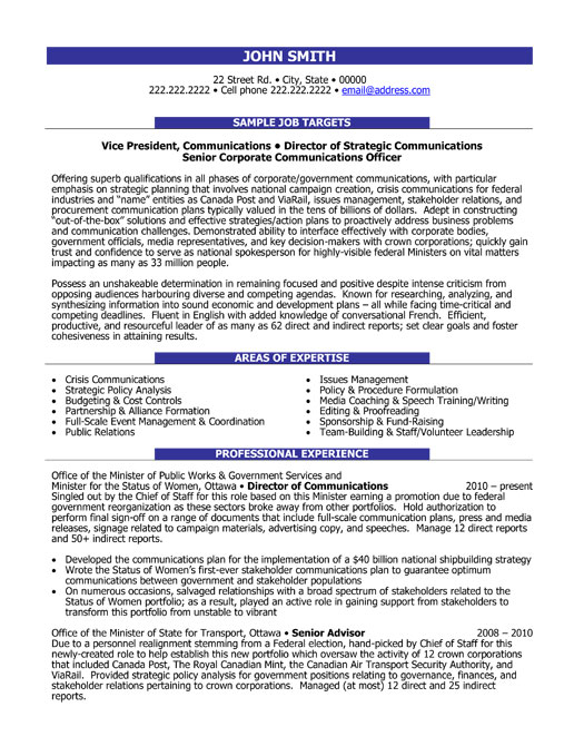 Communications Coordinator Resume Template