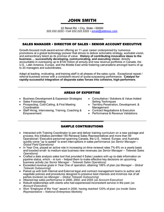 executive management resume