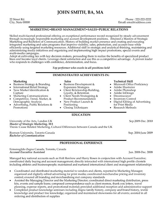 account executive assistant resume template