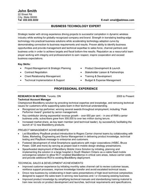 business technology expert resume template premium