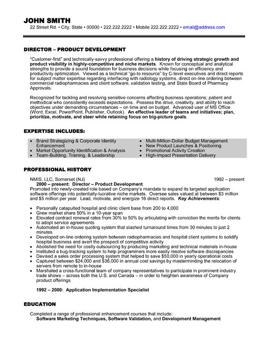 Director Resume Template Premium Resume Samples Amp Example