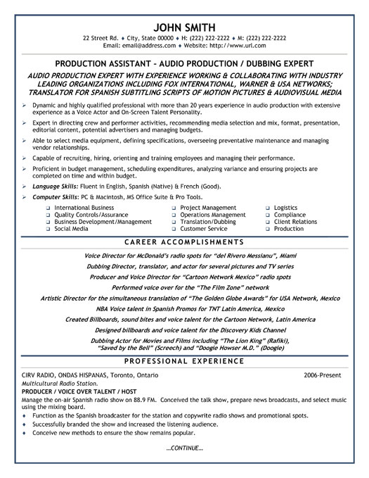 production assistant resume template premium resume samples - Production Associate Job Description