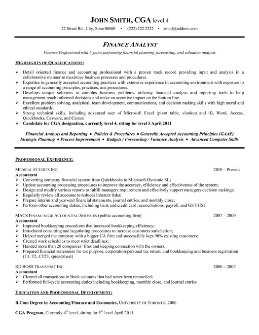 financial analyst sle cover letters for resumes