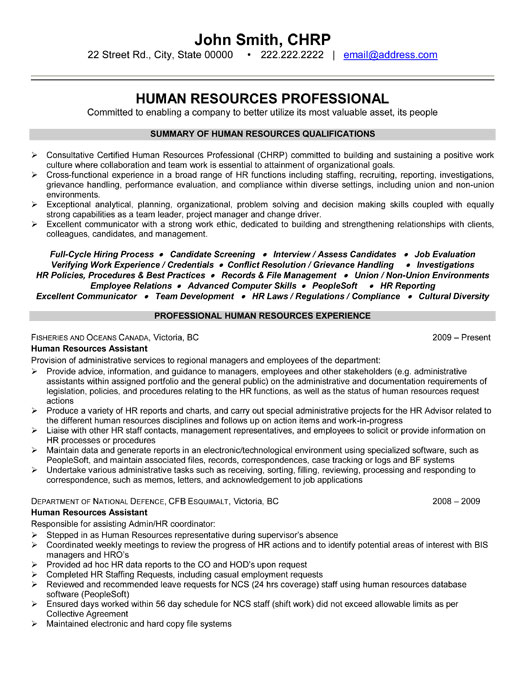 Human Resources Professional Resume Template | Premium Resume Samples ...