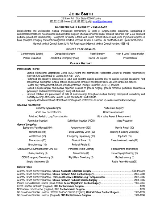 ... Surgeon Consultant Resume Template | Premium Resume Samples & Example