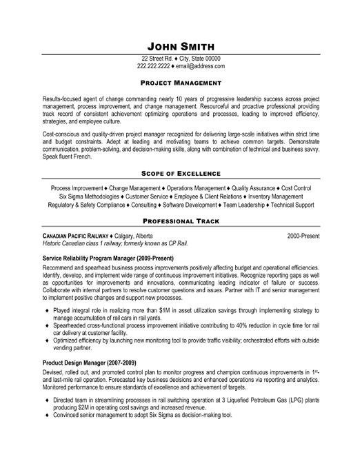 Pmp Resumes  Resume Project Manager