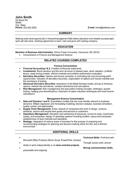 Recent Graduate Resume Template Premium Resume Samples