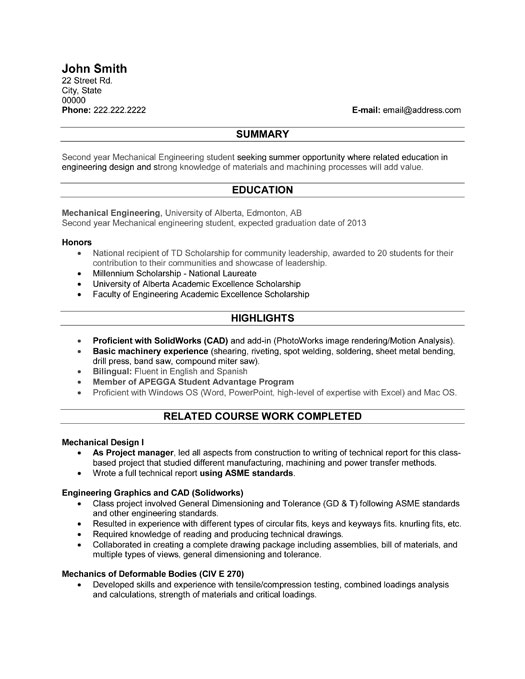 sample of resume for student resume format for college students example chronological format example functional format - Graduate Student Resume Templates