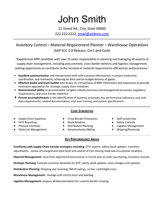 logistics resume sample download sample resume