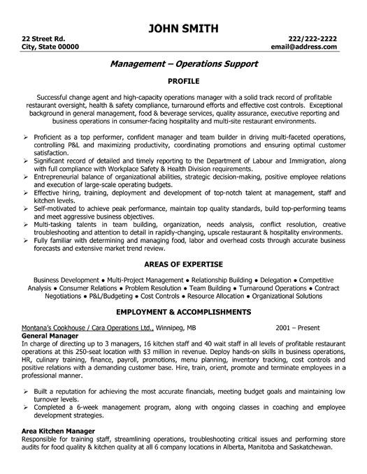 General Resume Templates General Manager Resume Template Premium Resume Samples