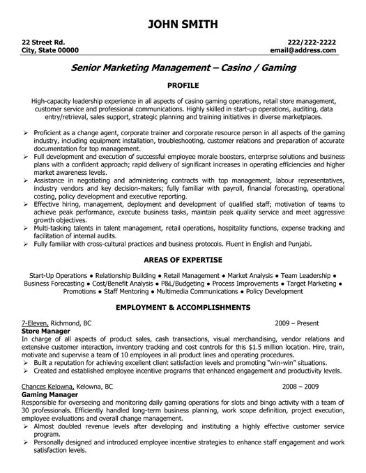 sample retail manager resume - Sample Resume For Assistant Retail Manager
