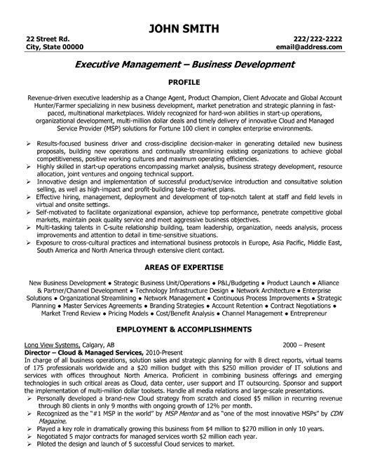 Executive Director Resume Sample] Executive Resume Samples Free