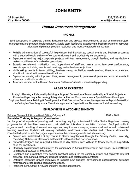 franchise training and support coordinator resume template