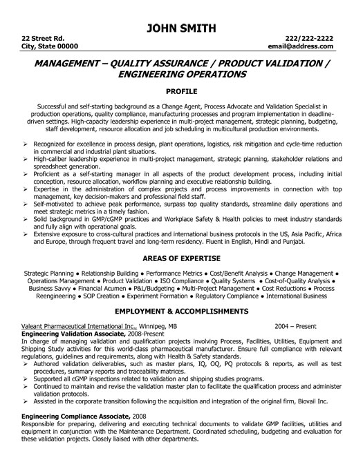 Quality Engineer Resume Samples,quality engineer resume sample pg ...