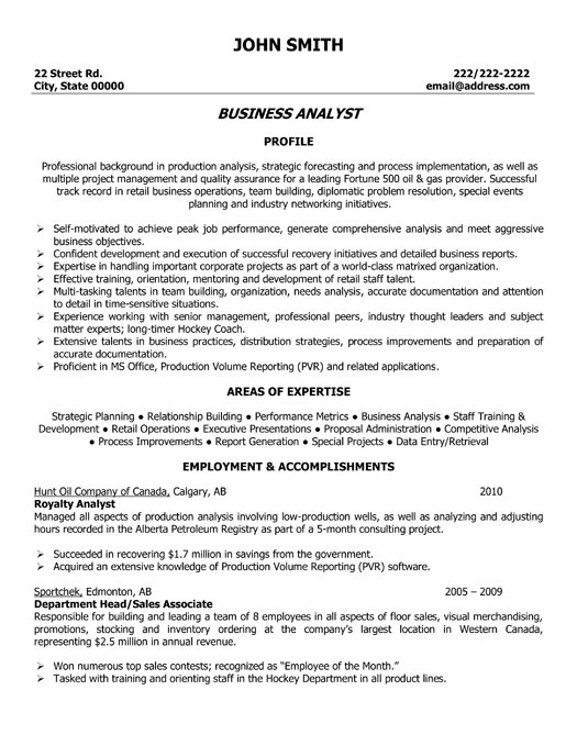 resume template business - Business Resume Template