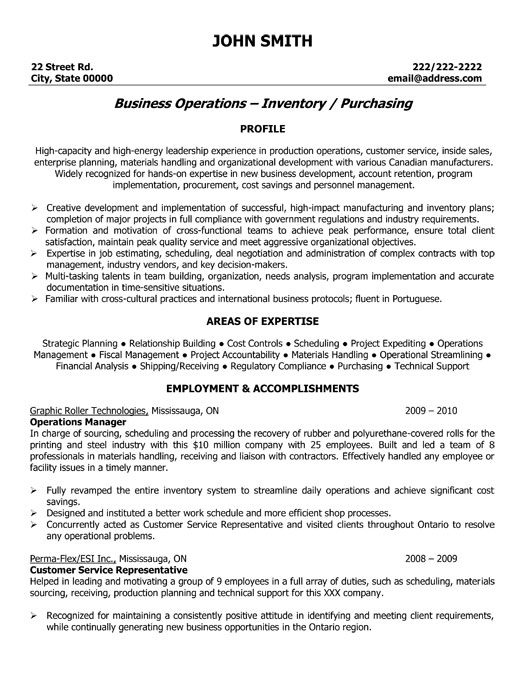 Operations Manager Resume Samples VisualCV  Resume For Operations Manager