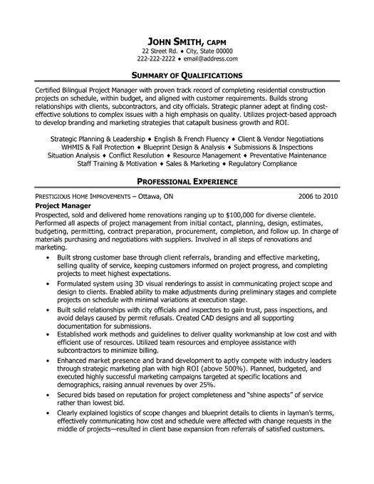 project manager cv template construction project management jobs cv team leader apptiled com unique app finder - Service Manager Resume