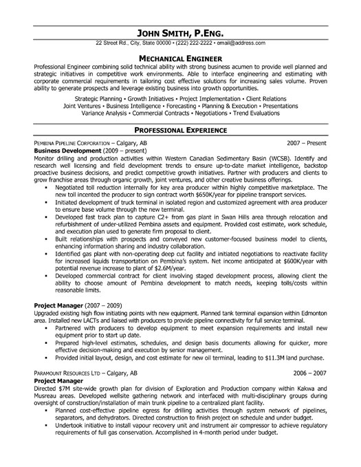 Writing And Editing Services job resume electrical engineer – Mechanical Engineering Entry Level