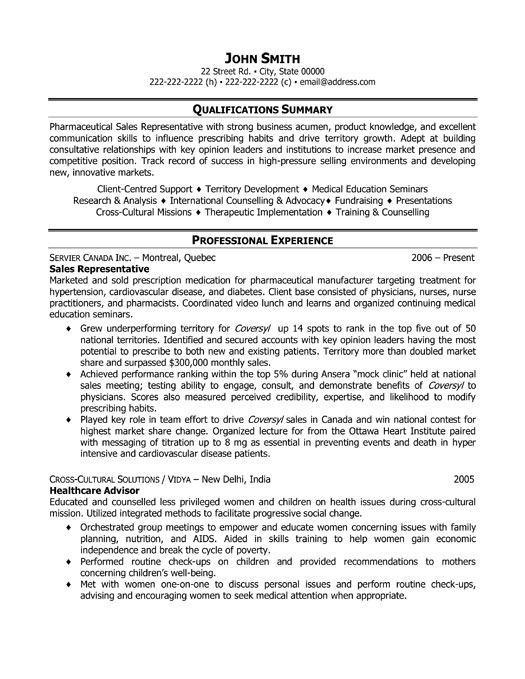 Retail Sales Representative Resume sales representative cv sample – Sample Resume Sales Representative