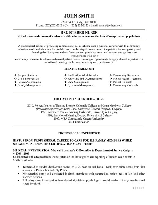 registered nurse resume template premium resume samples example