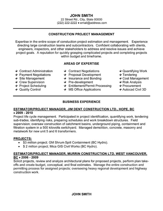 Superior Project Manager Resume Template Premium Resume Samples U0026 Example