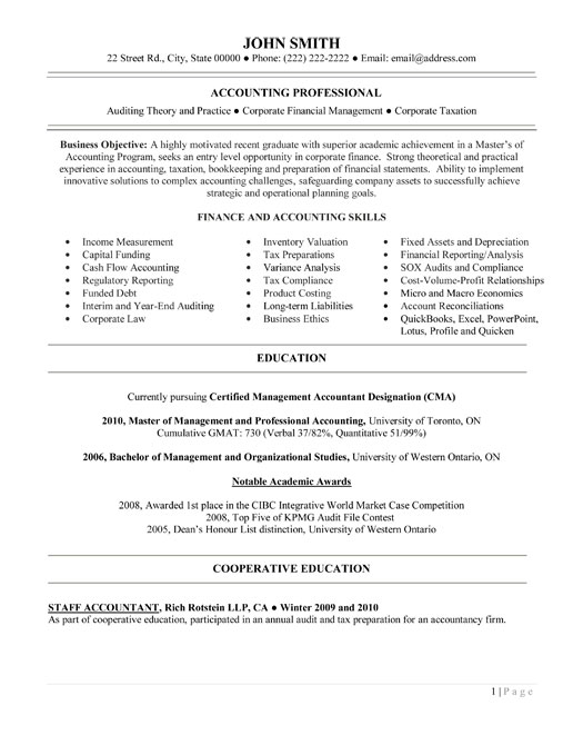 property accountant resume