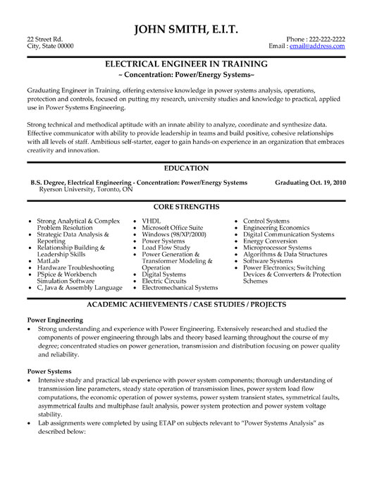 Electrical Engineer Resume Template Premium Resume