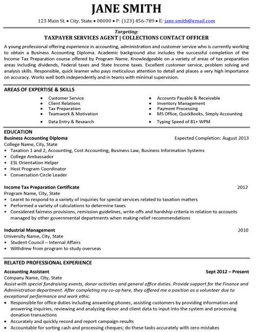 cover letter graduate student accounting