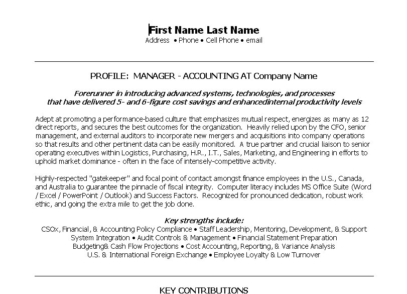 Manager   Accounting. ProfessionalResume ...  Property Accountant Resume