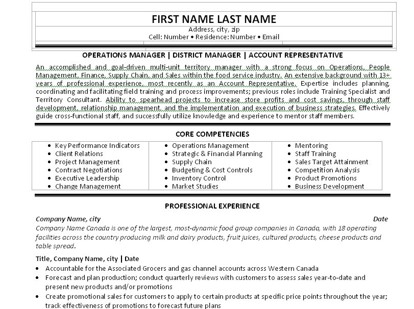 Comedy resume template