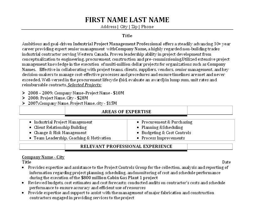 Management consulting resume