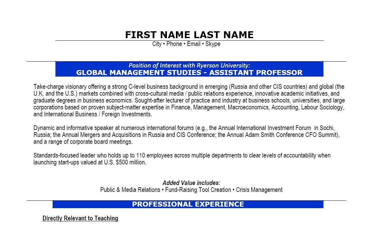 sample resume for assistant professor assistant professor resume assistant professor resume sample