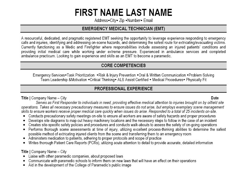 emt resume sample resume for emt job emt paramedic sample resume ezrezume emt resume sample emt - Emt Resume Example
