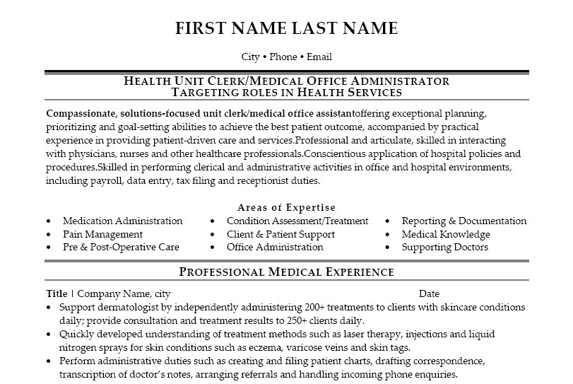 unit resume samples. resume samples expert resumes health unit coordinator  ...