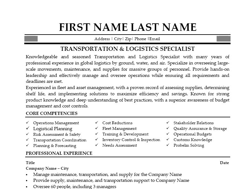 Charming Transportation Resume Sample All Trades Resume Writing Service  MyPerfectResume Com Update Transportation Resume Examples Documents Hospital To Transportation Resume Examples