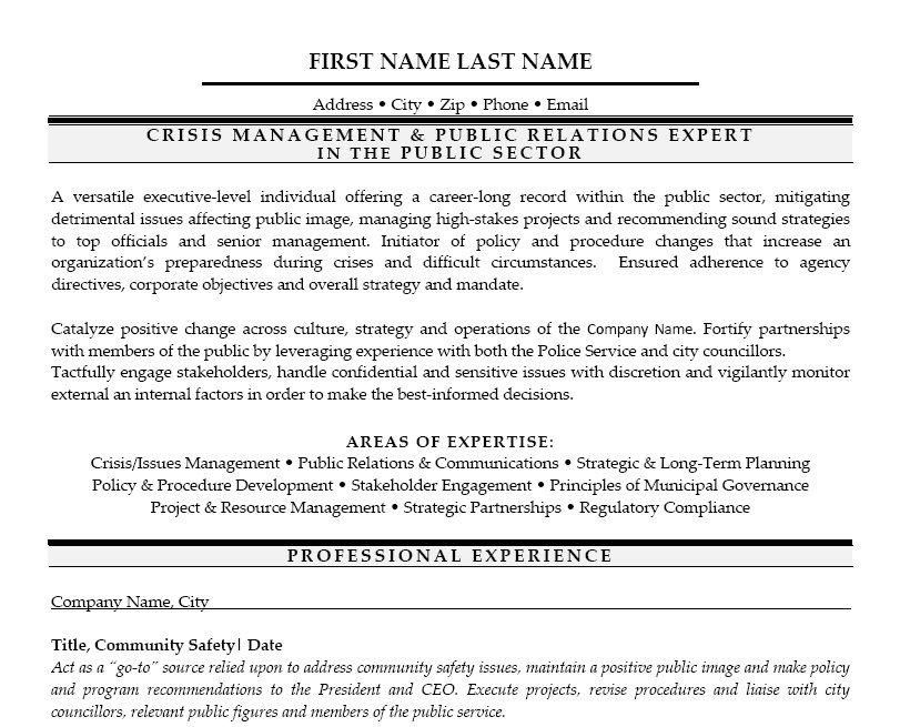 public relations manager cover letter sample - Program Manager Cover Letter Example