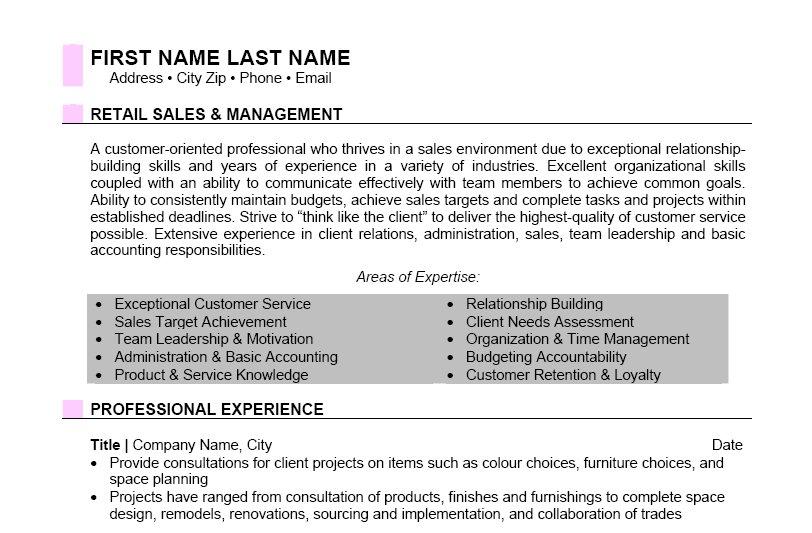 design sales consultant resume