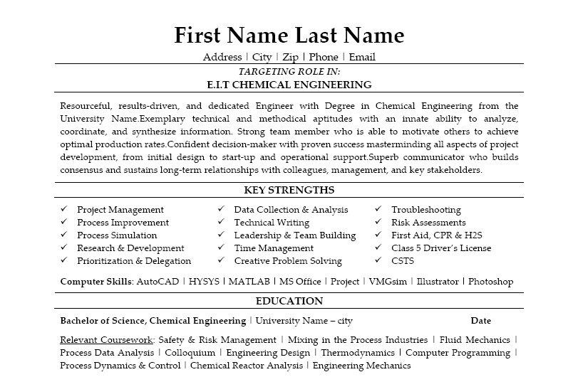 sample engineer resume images