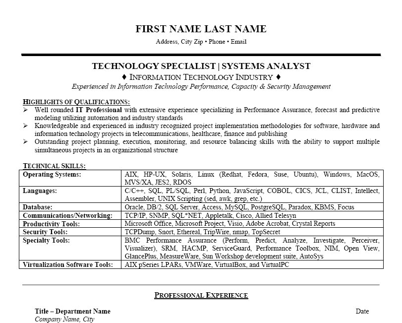 resume of an information technology specialist  information    resume of an information technology specialist  information technology specialist federal resume  information technology director resume  desktop support