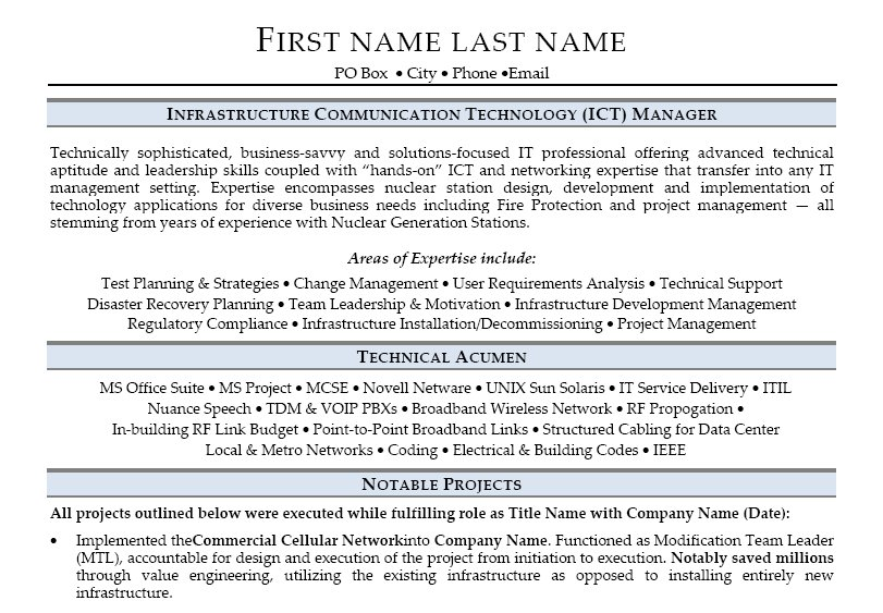 It infrastructure director cover letter