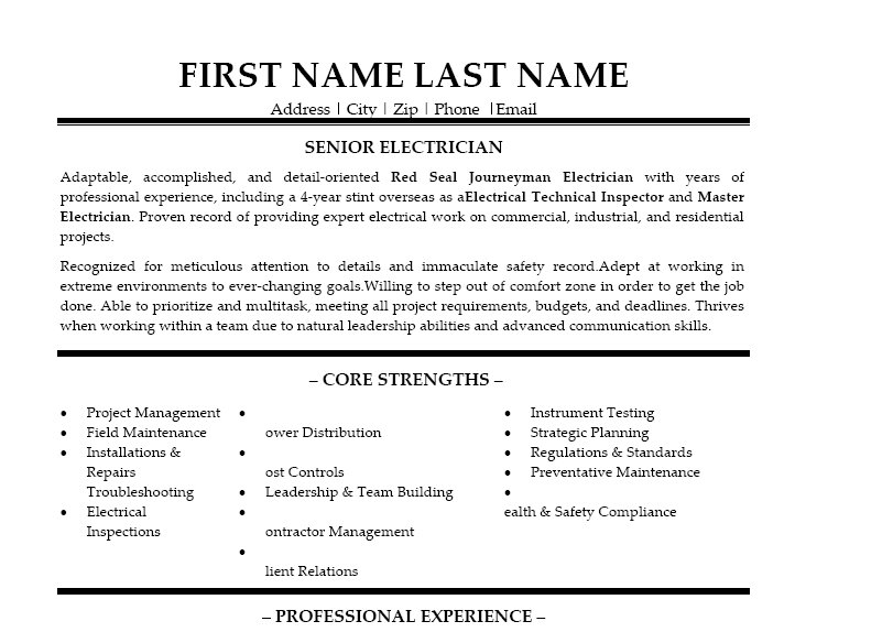 free cv template electrician resume examples and writing letter carpinteria rural friedrich sample electrician resume resume - Sample Electrician Resume