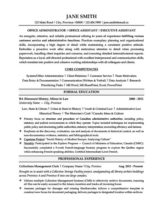 Office Administrator. EntryResume Template ...