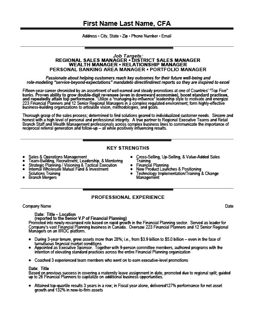 Relationship Or Category Manager ExecutiveResume Template