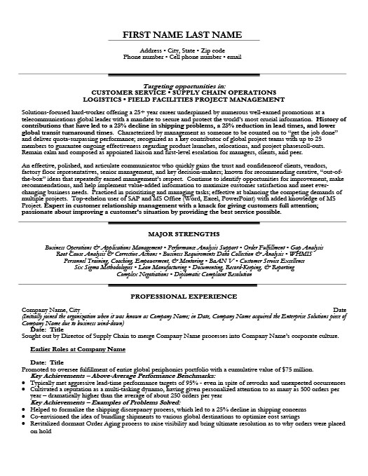logistics resume templates samples examples resume templates 101