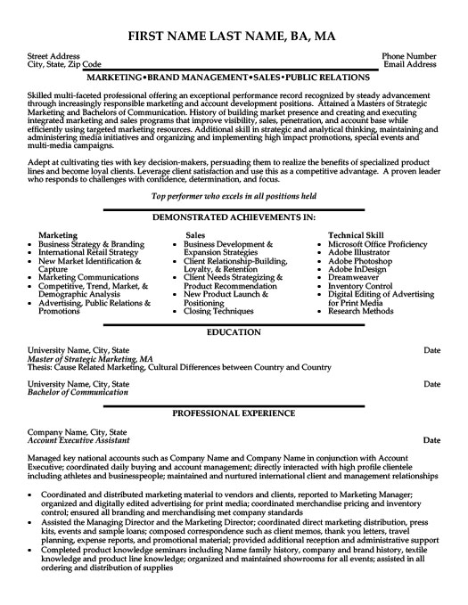 Account Executive Assistant ProfessionalResume Template