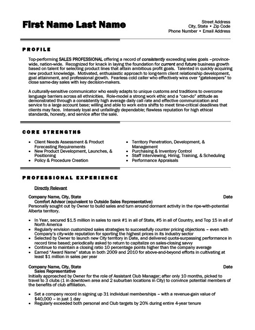 sales professional resume template premium resume samples example - Sales Professional Resume