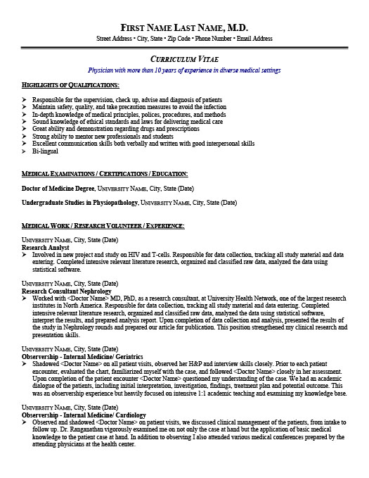 Research Analyst. Professional Resume Template ...  Medical Resume Template